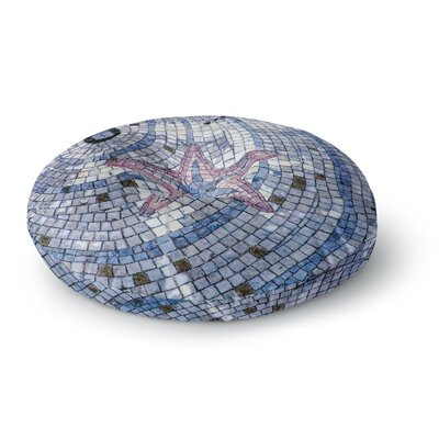 Debbra Obertanec Mosaic Starfish Nautical Round Floor Pillow Size: 23 x 23