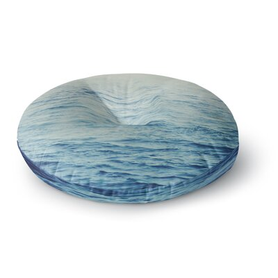 Debbra Obertanec Foggy Morning Ocean Coastal Round Floor Pillow Size: 23 x 23
