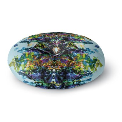 Danii Pollehn Butterfly Rainbow Round Floor Pillow Size: 23 x 23