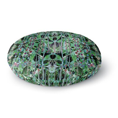 Danii Pollehn Grun Abstract Round Floor Pillow Size: 23 x 23