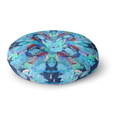 Danii Pollehn The Moon and a Fox Round Floor Pillow Size: 23 x 23