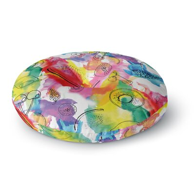 Danii Pollehn Fruits Rainbow Round Floor Pillow Size: 26 x 26