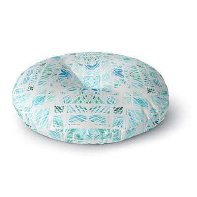 Danii Pollehn Scandinavian Square Round Floor Pillow Size: 26 x 26, Color: Blue/Teal