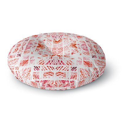Danii Pollehn Scandinavian Square Round Floor Pillow Size: 23 x 23, Color: Pink/Red