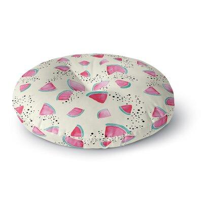 Danii Pollehn Watermelon Food Round Floor Pillow Size: 23 x 23