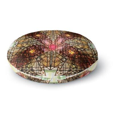 Danii Pollehn Viereck Geometric Round Floor Pillow Size: 26 x 26