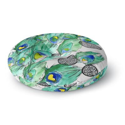Danii Pollehn Peacock Cell Animals Round Floor Pillow Size: 23 x 23