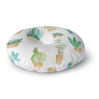Danii Pollehn Plants and Cacti Illustration Round Floor Pillow Size: 26 x 26