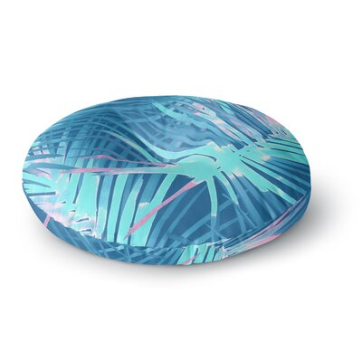 Danii Pollehn Neon Tropical Illustration Round Floor Pillow Size: 26 x 26