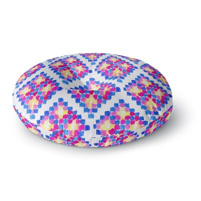 Danii Pollehn Marrakech Mosaic Watercolor Round Floor Pillow Size: 23 x 23