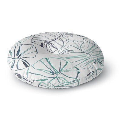 Danii Pollehn Monstera Illustration Round Floor Pillow Size: 23 x 23