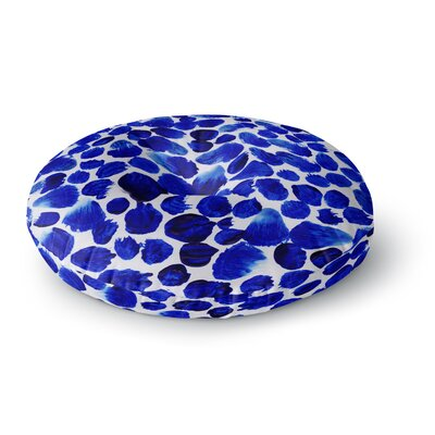 Danii Pollehn Dots Painting Round Floor Pillow Size: 26 x 26