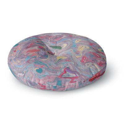 Danii Pollehn Marble Painting Round Floor Pillow Size: 26 x 26