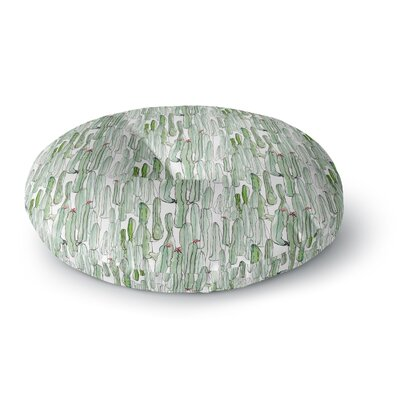 Danii Pollehn Cacti Illustration Round Floor Pillow Size: 26 x 26