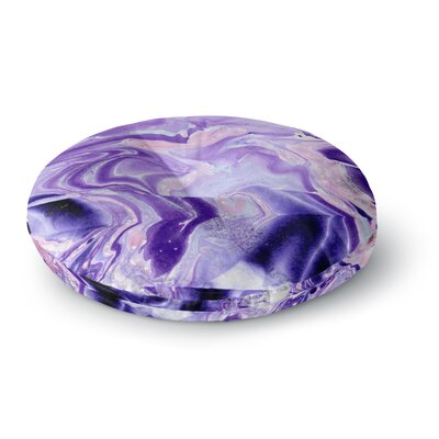Danii Pollehn Marble Structure Painting Round Floor Pillow Size: 26 x 26