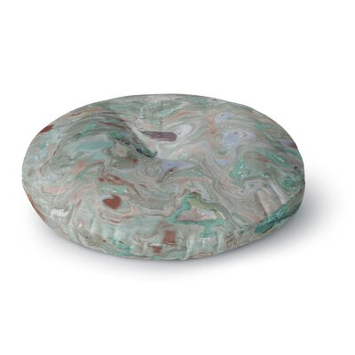 Danii Pollehn Nude Marble Watercolor Round Floor Pillow Size: 26 x 26