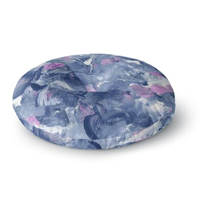 Danii Pollehn Swirly Painting Round Floor Pillow Size: 23 x 23
