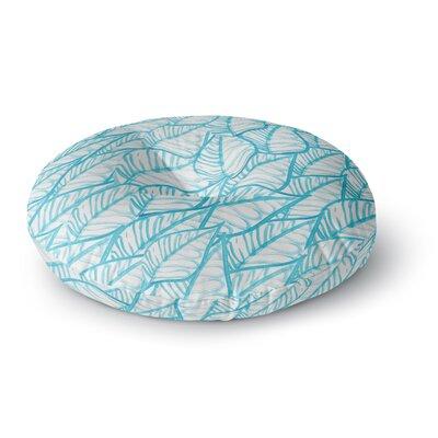 Danii Pollehn Leaves Illustration Round Floor Pillow Size: 23 x 23