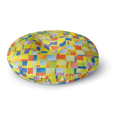 Dawid Roc Blocking Geometric Round Floor Pillow Size: 23 x 23