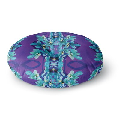 Dawid Roc Orchids Floral Round Floor Pillow Size: 23 x 23