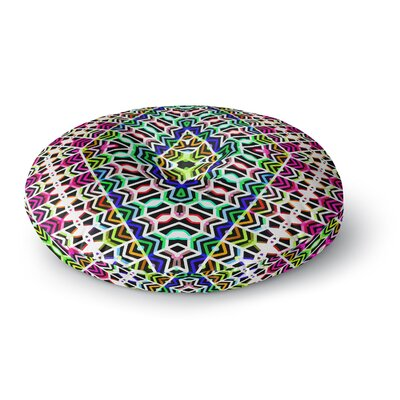Dawid Roc Colorful Tribal Pattern Round Floor Pillow Size: 23 x 23