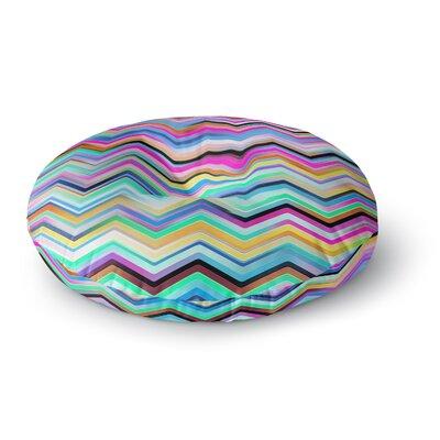 Dawid Roc Colorful Rainbow Chevron Round Floor Pillow Size: 26 x 26