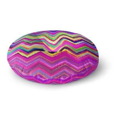 Dawid Roc Colorful Chevron Round Floor Pillow Size: 26 x 26