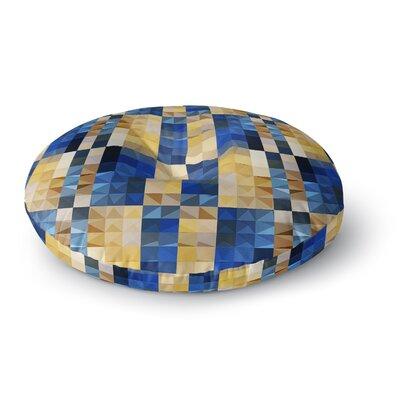Dawid Roc New Stripes Mosaic Round Floor Pillow Size: 26 x 26