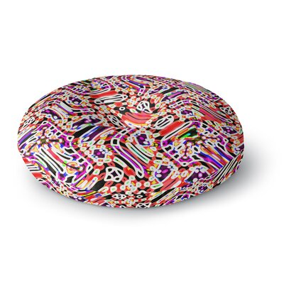 Dawid Roc Camouflage Pattern 2 Abstract Round Floor Pillow Size: 26 x 26