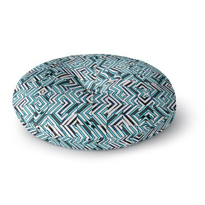 Dawid Roc Maze Geometric Abstract 2 Pattern Round Floor Pillow Size: 23 x 23