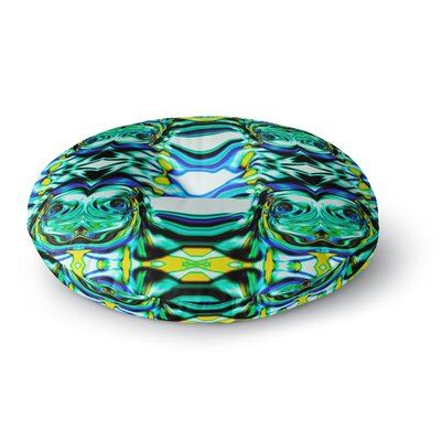 Dawid Roc Inspired by Psychedelic Art 5 Abstract Round Floor Pillow Size: 23 x 23