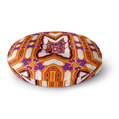 Dawid Roc Inspired by Psychedelic Art 4 Abstract Round Floor Pillow Size: 26 x 26