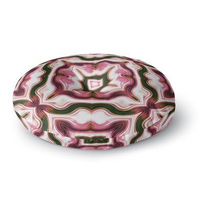 Dawid Roc Vintage Flower Pattern 3 Abstract Round Floor Pillow Size: 23 x 23, Color: Pink