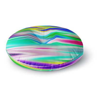 Dawid Roc Lively Atmosphere Abstract Round Floor Pillow Size: 26 x 26
