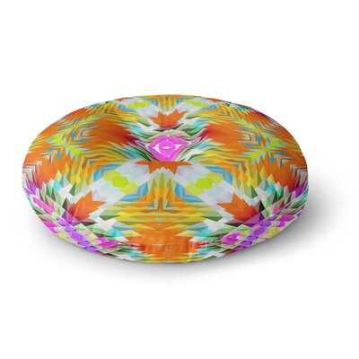 Dawid Roc Colorful Tribal Mosaic Tribal Round Floor Pillow Size: 26 x 26
