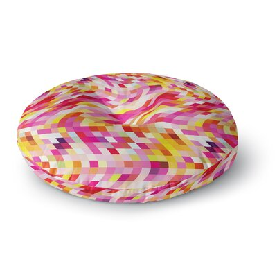 Dawid Roc Colorful Geometric Movement 2 Geometric Round Floor Pillow Size: 26 x 26