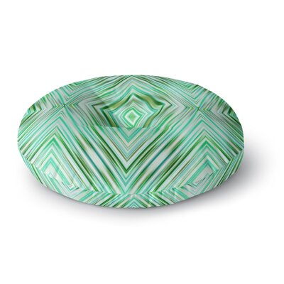 Dawid Roc Modern Tribal Round Floor Pillow Size: 23 x 23, Color: Green/Teal