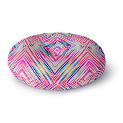 Dawid Roc Modern Tribal Round Floor Pillow Size: 23 x 23, Color: Pink/Blue