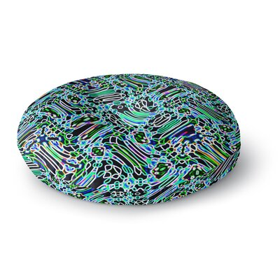 Dawid Roc Camouflage Pattern 3 Round Floor Pillow Size: 23 x 23, Color: Teal