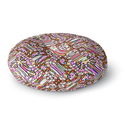 Dawid Roc Camouflage Pattern 3 Round Floor Pillow Size: 23 x 23, Color: Pink