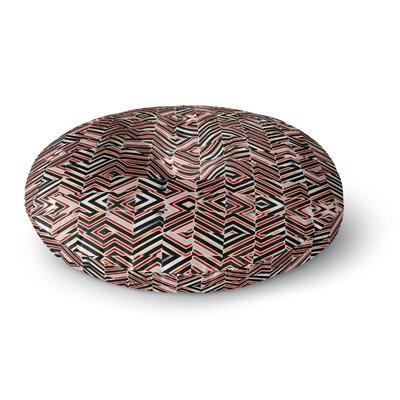 Dawid Roc Maze Geometric Abstract 1 Round Floor Pillow Size: 23 x 23