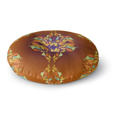 Dan Sekanwagi Feast Abstract Round Floor Pillow Size: 23 x 23
