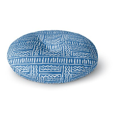 Dan Sekanwagi Lines and Zigzags Tribal Round Floor Pillow Size: 26 x 26