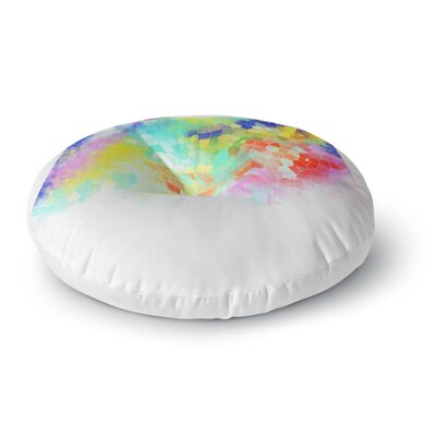 Dan Sekanwagi Color Structure Colorful Abstract Round Floor Pillow Size: 23 x 23
