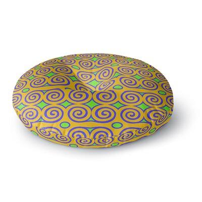 Dan Sekanwagi Locked Rams Horns Clear Day Digital Round Floor Pillow Size: 23 x 23