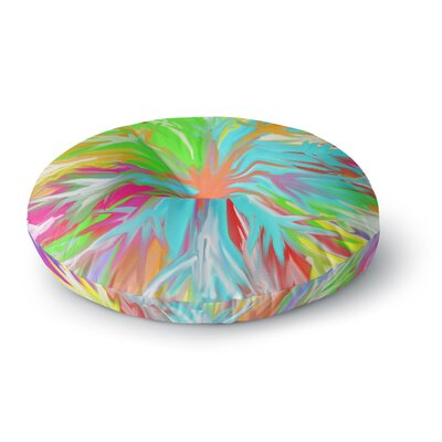 Dan Sekanwagi Tropical Paradise Rainbow Abstract Round Floor Pillow Size: 23 x 23