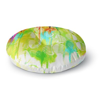 Dan Sekanwagi Poddy Combs Wet Paint Round Floor Pillow Size: 23 x 23