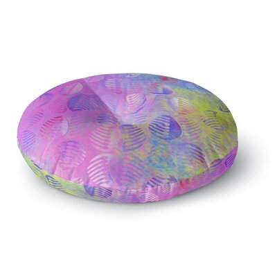 Dan Sekanwagi Poddy Combs Subtle Round Floor Pillow Size: 26 x 26