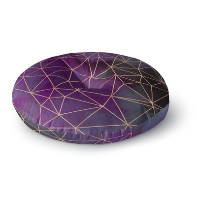 Cafelab Watercolor Storm Round Floor Pillow Size: 26 x 26
