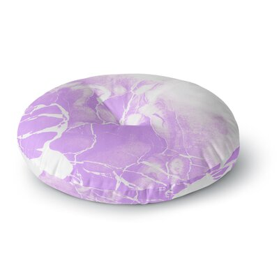 Cafelab Marble with Illustration Round Floor Pillow Size: 23 x 23